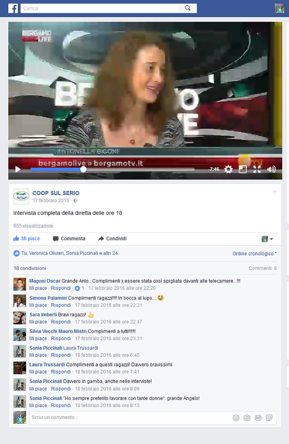 Intervista BergamoLive su BergamoTV